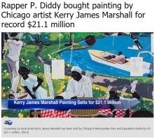 【イタすぎるセレブ達】ケリー・ジェームス・マーシャルの絵画、米富豪ラッパーが23.4億円で競り落とす
