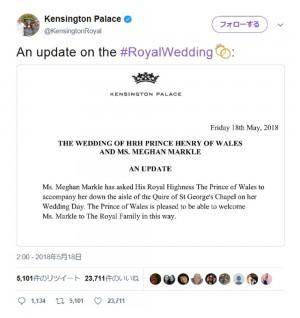 【イタすぎるセレブ達】メーガンさん、バージンロードはチャールズ皇太子と歩くことに