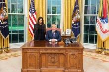 【イタすぎるセレブ達】キム・カーダシアン、ホワイトハウスでトランプ大統領と対談