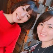 【エンタがビタミン♪】磯山さやか、台湾在住の大久保麻梨子と2ショット 「ミスマリンちゃん!」と懐かしむ声