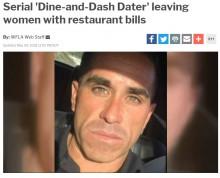 【海外発!Breaking News】出会い系で知り合った女性とレストランへ 3年間「食い逃げ」を続ける超セコい男(米)