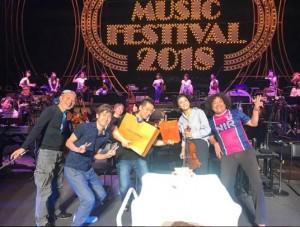 『HATS MUSIC FESTIVAL 2018』オフショット(画像は『Chisako Takashima 2018年5月11日付Instagram「フォーラム初日おわり!」』のスクリーンショット)