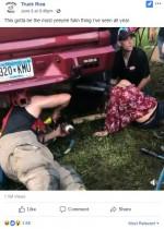 【海外発!Breaking News】トラックの排気口に頭を突っ込んだ女性を襲った悲劇と幸運(米)