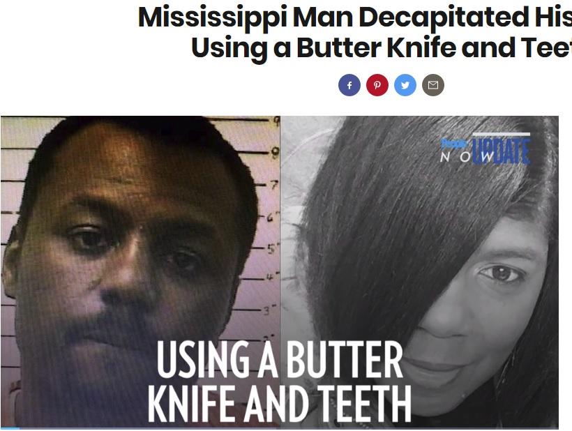 母親(右)を殺害し首を切断した息子(画像は『PEOPLE.com 2018年6月22日付「Mississippi Man Decapitated His Mom Using a Butter Knife and Teeth」』のスクリーンショット)