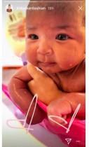 【イタすぎるセレブ達】クロエ・カーダシアン、生後2か月になった愛娘のバスタイムショットを披露