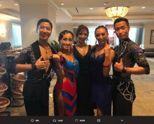 【エンタがビタミン♪】キンタロー。&ロペス、名越ペアとともに社交ダンス・メジャー大会で決勝進出の快挙