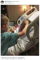 【海外発!Breaking News】瀕死の妹のそばに寄り添う6歳兄 切ない姿を父がSNSに投稿(米)