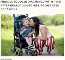 【海外発!Breaking News】死の淵を3度さまよった男児、わずか3歳でPTSDと診断される(英)