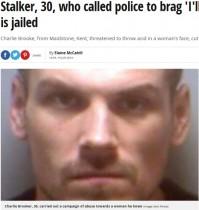 【海外発!Breaking News】「俺を捕まえることはできない」警察へ電話をした前歴96件のストーカー男、再び逮捕(英)