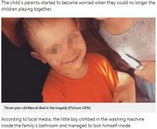 【海外発!Breaking News】かくれんぼで3歳児、洗濯機に閉じ込められ死亡(ポーランド)