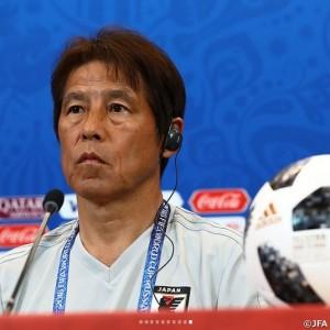 サッカー日本代表の指揮をとる西野朗監督(画像は『日本サッカー協会(JFA) 2018年6月28日付「2018FIFAワールドカップロシアでノックアウトステージ進出をかけてポーランドとのグループステージ最終戦に臨む」』 のスクリーンショット)