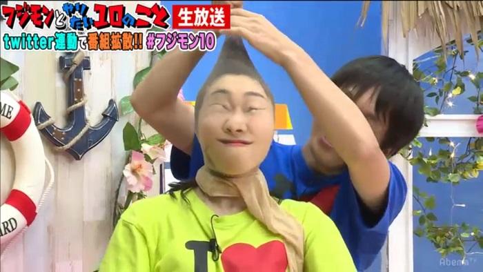 パンストを脱がされるSKE48須田亜香里(C)AbemaTV