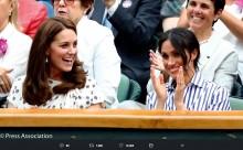 【イタすぎるセレブ達】メーガン妃、ウィンブルドンでキャサリン妃と初公務 友人セリーナ・ウィリアムズの健闘を見守る