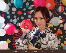 """【エンタがビタミン♪】山本彩""""25歳""""の誕生日に浴衣姿で抱負「皆さんを笑顔に、幸せに出来るように…」"""