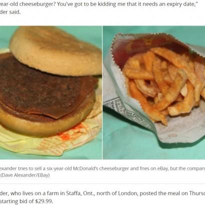 【海外発!Breaking News】6年前に購入したマクドナルドのバーガー&ポテトを「eBay」に出品(カナダ)