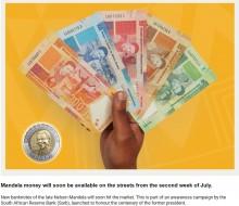 【海外発!Breaking News】故ネルソン・マンデラ生誕100周年記念、その生涯が一目でわかる紙幣が登場(南ア)