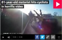 【海外発!Breaking News】81歳ドライバー、サイクリストを撥ねそのまま逃走(英)<動画あり>