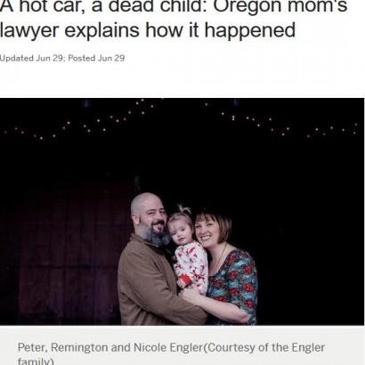 【海外発!Breaking News】最愛の娘を車中に忘れ命を奪った母親、弁護士に「私も死なせて」(米)