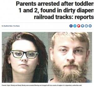 【海外発!Breaking News】線路沿いを歩いていた幼児2人、汚れたオムツにドッグフードを詰め込んで(米)