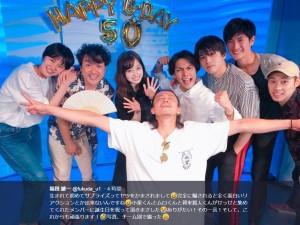 『銀魂』チーム(画像は『福田雄一 2018年7月20日付Twitter「生まれて初めてサプライズってヤツをかまされまして」』のスクリーンショット)