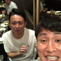 【エンタがビタミン♪】アンジャ児嶋が嬉しそう 「一緒に飲むのは珍しい」有吉弘行とのプライベートショット