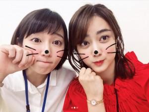 【エンタがビタミン♪】吉岡里帆&谷まりあ 『ケンカツ』ショットに「二人ともかわいい。天使みたい」