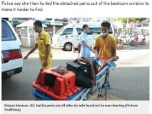 【海外発!Breaking News】浮気した夫のペニスを包丁で切断、窓から投げ捨てた妻(タイ)