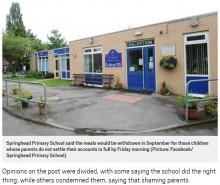 【海外発!Breaking News】「給食費未納なら親の名前を公表」とほのめかした小学校に賛否両論(英)
