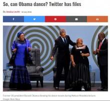 【海外発!Breaking News】オバマ元大統領はダンスが下手? 南ア大統領「マンデラ氏ほど上手くない」