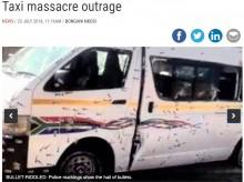 【海外発!Breaking News】ミニバスタクシーに250発以上の弾丸 12名が死亡(南ア)