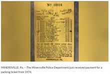 【海外発!Breaking News】44年前の未払いだった駐車料金を警察に送った男性(米)