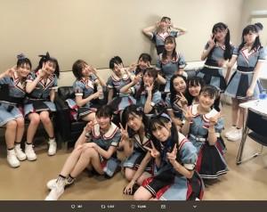 『TIF2018』最終日で大トリを務めたHKT48メンバー(画像は『指原莉乃 2018年8月5日付Twitter「#TIF HKT48、終了しました!」』のスクリーンショット)