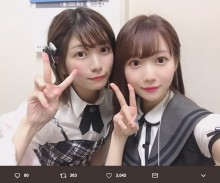 【エンタがビタミン♪】イコラブ・大谷映美里&ラブコッチ・石川夏海 2ショットが「似てる!」と評判