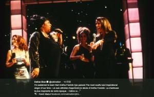 セリーヌ・ディオン「アレサはこの時代を生きた最もソウルフルなシンガーでした」(画像は『Celine Dion 2018年8月17日付Twitter「I'm saddened to learn that Aretha Franklin has passed.」』のスクリーンショット)