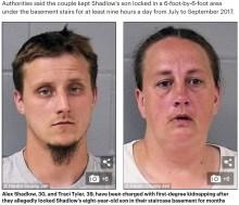 【海外発!Breaking News】8歳男児を狭い地下室に監禁し、虐待を続けていたカップル(米)