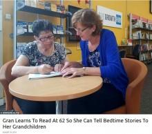 【海外発!Breaking News】「孫に絵本を読んであげたい」61歳で初めて読み書きを学ぶ女性(英)