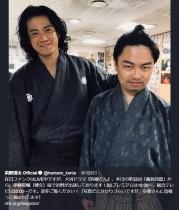 【エンタがビタミン♪】浜野謙太、『西郷どん』で小栗旬とオフショット「首根っこ掴まれてます」