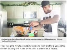 【海外発!Breaking News】ヒットを狙うYouTuberの父親、我が子に下剤入りアイスを食べさせた動画を投稿(米)