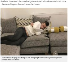 【海外発!Breaking News】酔っ払った男性、かつて両親が住んでいた家で居眠り 今の住人を驚かせる(英)