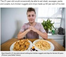 """【海外発!Breaking News】決まったものしか口にできない""""選択的摂食障害""""を克服した男性「家族との食事が楽しいことも学んだ」(英)"""