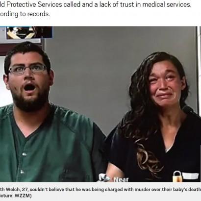 【海外発!Breaking News】宗教を理由に医師の治療を受けさせず、我が子を餓死させた両親(米)