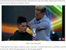 【海外発!Breaking News】生まれつき両手のないアルゼンチンの男性、プロの理髪師に<動画あり>