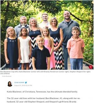 【海外発!Breaking News】現夫と元夫、元夫の恋人と同じ屋根の下で 6人の子育てを共同で行う女性(米)