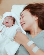 【エンタがビタミン♪】人気モデルの里見茜、父の命日に生まれた娘に感謝の涙