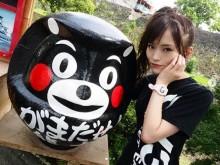 """【エンタがビタミン♪】山本彩、NMB48メンバーと""""くまモンポーズ""""で「がまだせ熊本!」"""