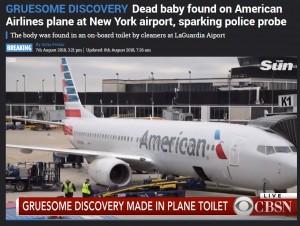 【海外発!Breaking News】アメリカン航空機内トイレに胎児の遺体 NYラガーディア空港で清掃員が発見(米)