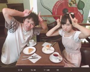 """【エンタがビタミン♪】AKB48小栗有以がちゅうえいと一発ギャグ """"リリィー""""とのギャップに和む"""