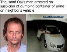 【海外発!Breaking News】隣人の車に大量の尿を注ぐ 大迷惑男を逮捕(米)<動画あり>