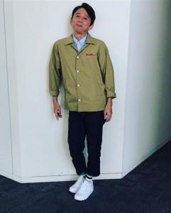 「モデルはみんなこの場所」と有吉弘行(画像は『有吉弘行 2018年9月7日付Instagram「ヒルナンデス。」』のスクリーンショット)