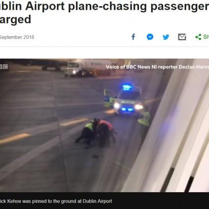 【海外発!Breaking News】「待ってくれ!」乗り遅れた飛行機を追いかけた男、空港職員と乱闘(アイルランド)
